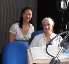 CubeSocial CEO Linda Cheung in the Marlow FM Studio