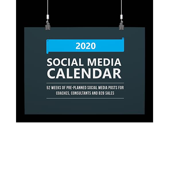 2020 Social Media Calendar Cover